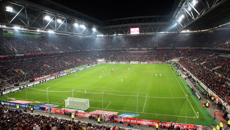 DUESSELDORF, GERMANY - SEPTEMBER 28:  General view of the Esprit-Arena prior to the Bundesliga match between Fortuna Duesseldorf and FC Schalke 04 at Esprit-Arena on September 28, 2012 in Duesseldorf, Germany. The match between Duesseldorf and Schalke ended 2-2.  (Photo by Christof Koepsel/Bongarts/Getty Images)