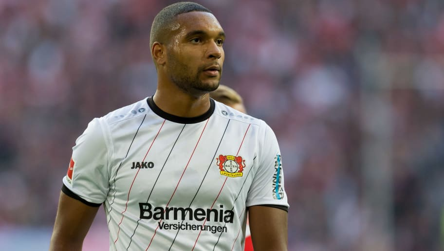DUESSELDORF, GERMANY - SEPTEMBER 26: Jonathan Tah of Bayer 04 Leverkusen looks on during the Bundesliga match between Fortuna Duesseldorf and Bayer 04 Leverkusen at Merkur Spiel-Arena on September 26, 2018 in Duesseldorf, Germany. (Photo by TF-Images/Getty Images)