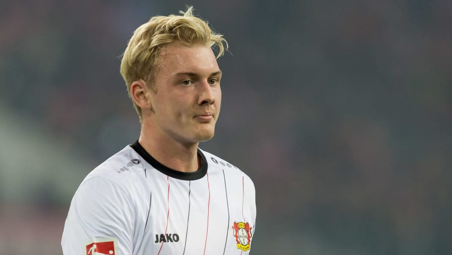 DUESSELDORF, GERMANY - SEPTEMBER 26: Julian Brandt of Bayer 04 Leverkusen looks on during the Bundesliga match between Fortuna Duesseldorf and Bayer 04 Leverkusen at Merkur Spiel-Arena on September 26, 2018 in Duesseldorf, Germany. (Photo by TF-Images/Getty Images)
