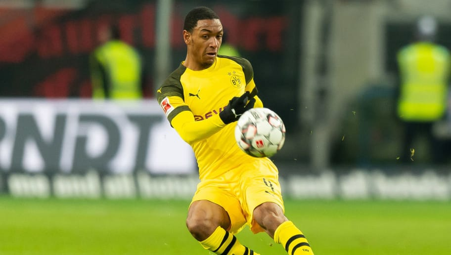 DUESSELDORF, GERMANY - DECEMBER 18: Abdou Diallo of Borussia Dortmund controls the ball during the Bundesliga match between Fortuna Duesseldorf and Borussia Dortmund at Esprit-Arena on December 18, 2018 in Duesseldorf, Germany.(Photo by TF-Images/TF-Images via Getty Images)