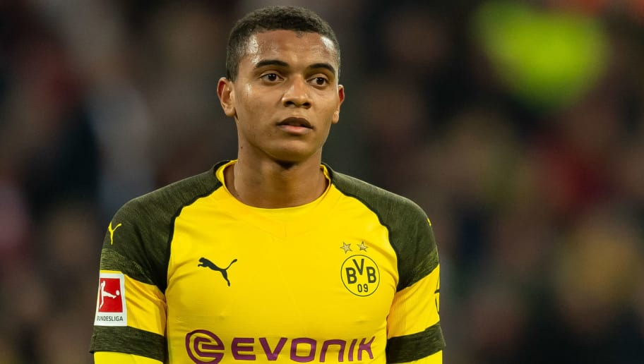 DUESSELDORF, GERMANY - DECEMBER 18: Manuel Akanji of Borussia Dortmund looks on during the Bundesliga match between Fortuna Duesseldorf and Borussia Dortmund at Esprit-Arena on December 18, 2018 in Duesseldorf, Germany.(Photo by TF-Images/TF-Images via Getty Images)