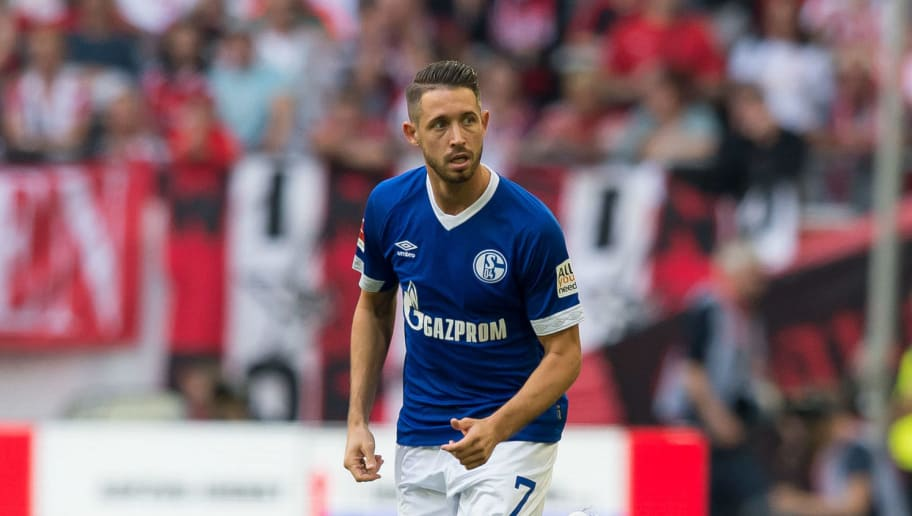 DUESSELDORF, GERMANY - OCTOBER 06: Mark Uth of Schalke looks on during the Bundesliga match between Fortuna Duesseldorf and FC Schalke 04 at Esprit-Arena on October 6, 2018 in Duesseldorf, Germany. (Photo by TF-Images/TF-Images via Getty Images)