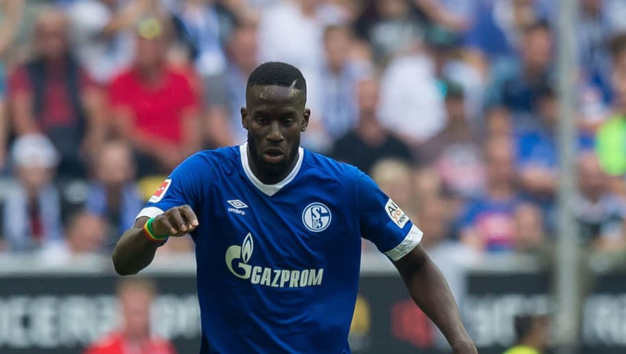 DUESSELDORF, GERMANY - OCTOBER 06: Salif Sane of Schalke controls the ball during the Bundesliga match between Fortuna Duesseldorf and FC Schalke 04 at Esprit-Arena on October 6, 2018 in Duesseldorf, Germany. (Photo by TF-Images/TF-Images via Getty Images)