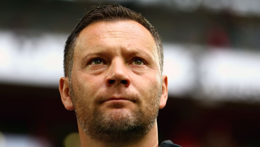 DUESSELDORF, GERMANY - NOVEMBER 10:  Pal Dardai, Manager of Hertha BSC looks on prior to the Bundesliga match between Fortuna Duesseldorf and Hertha BSC at Esprit-Arena on November 10, 2018 in Duesseldorf, Germany.  (Photo by Maja Hitij/Bongarts/Getty Images)