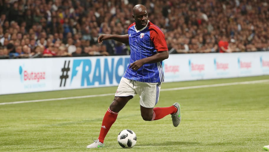 NANTERRE, FRANCE - JUNE 12:  Lilian Thuram of France 98 in action during the Friendly match between France 98 and FIFA 98 at U Arena on June 12, 2018 in Nanterre near Paris, France.  (Photo by Xavier Laine/Getty Images)