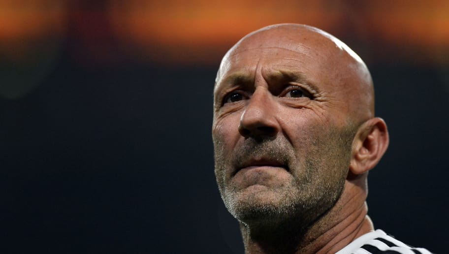 NANTERRE, FRANCE - JUNE 12:  Fabien Barthez of France 98 reacts during warmup before the friendly match between France 98 and FIFA 98 at U Arena on June 12, 2018 in Nanterre, France.  (Photo by Aurelien Meunier/Getty Images)