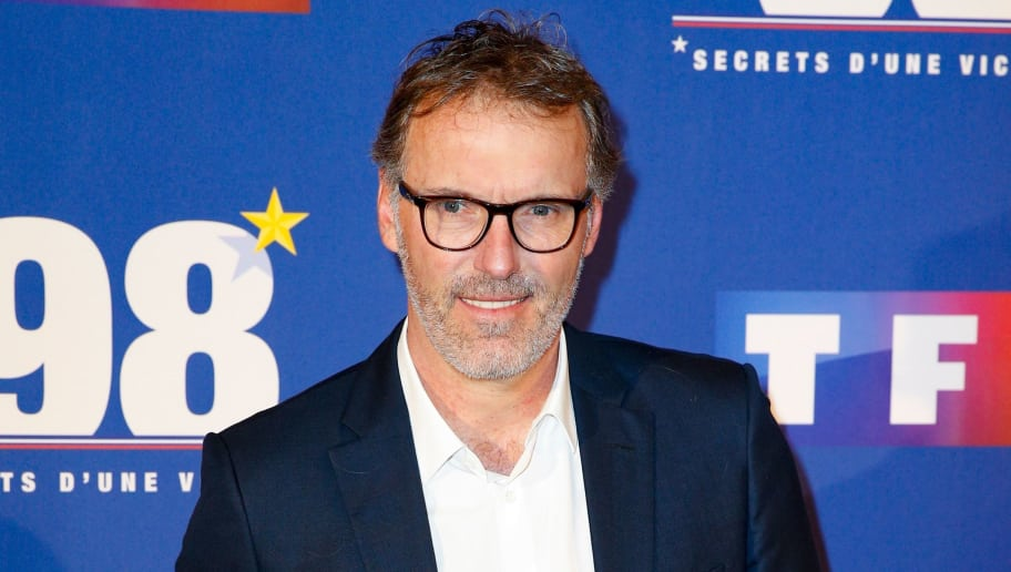 Former French football player Laurent Blanc poses as he arrives to attend the premiere of the television documentary film '98 secrets d'une victoire' (98, secrets of a victory) on May 30, 2018 in Paris. (Photo by GEOFFROY VAN DER HASSELT / AFP)        (Photo credit should read GEOFFROY VAN DER HASSELT/AFP/Getty Images)