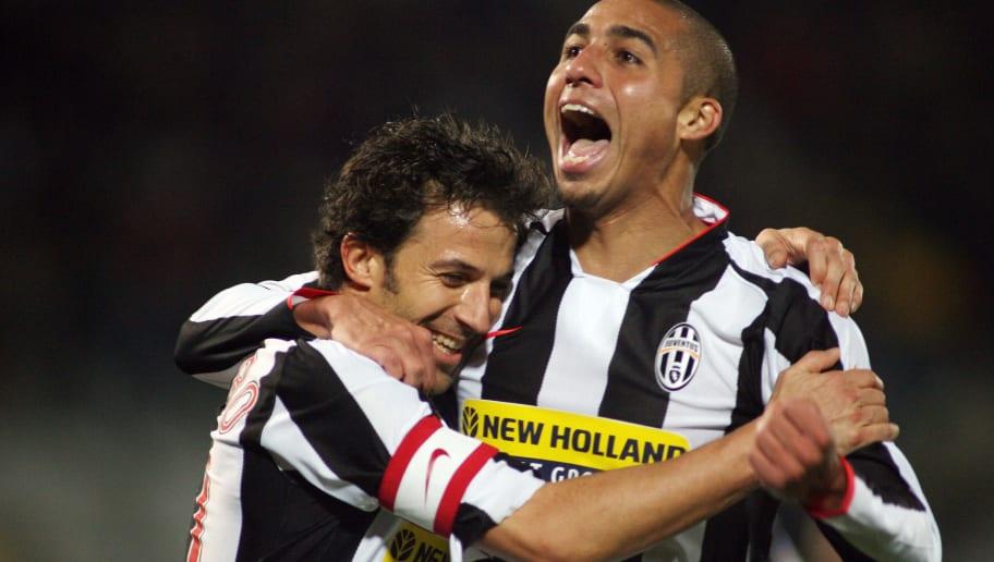 France's David Trezeguet of Juventus (R)