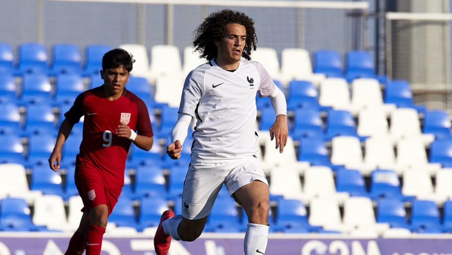 MURCIA, SPAIN - MARCH 21:  Matteo Guendouzi of France runs with the ball during the international friendly match between France U20 and USA U20 at Pinatar Arena on March 21, 2018 in Murcia, Spain.  (Photo by Quality Sport Images/Getty Images)