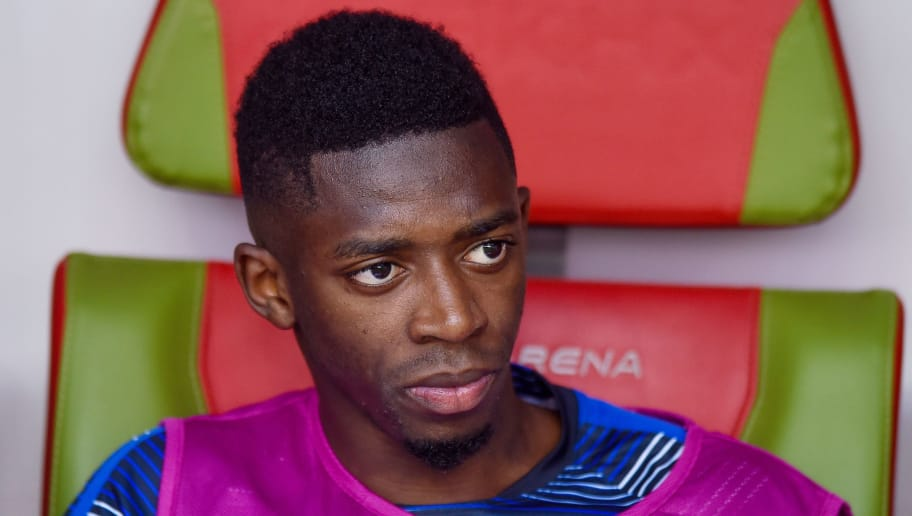 KAZAN, RUSSIA - JUNE 30: Ousmane Dembele of France  during the 2018 FIFA World Cup Russia Round of 16 match between France and Argentina at Kazan Arena on June 30, 2018 in Kazan, Russia. (Photo by Lukasz Laskowski/PressFocus/MB Media/Getty Images)