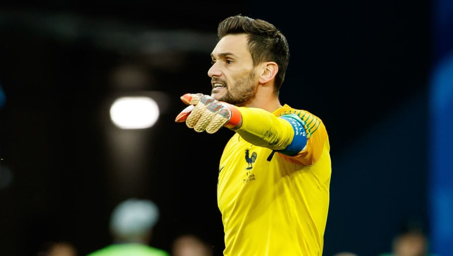 SAINT PETERSBURG, RUSSIA - JULY 10: Goalkeeper Hugo Lloris of France gestures during the 2018 FIFA World Cup Russia Semi Final match between France and Belgium at Saint Petersburg Stadium on July 10, 2018 in Saint Petersburg, Russia. (Photo by TF-Images/Getty Images)