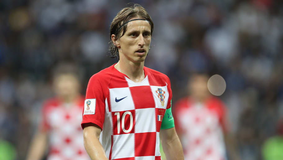 MOSCOW, RUSSIA - JULY 15:  Luka Modric of Croatia is seen during the 2018 FIFA World Cup Russia Final between France and Croatia at Luzhniki Stadium on July 15, 2018 in Moscow, Russia. (Photo by Ian MacNicol/Getty Images)