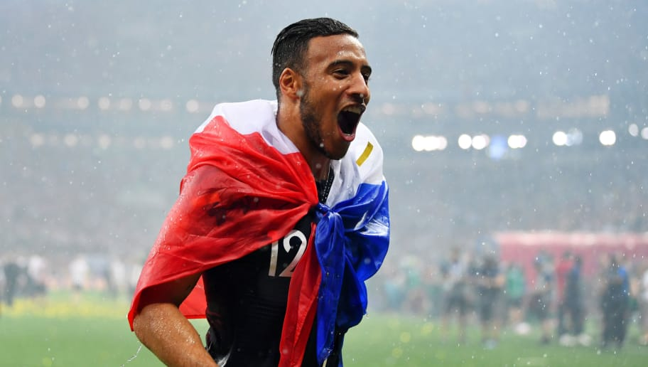 MOSCOW, RUSSIA - JULY 15:  Corentin Tolisso of France celebrates victory following the 2018 FIFA World Cup Final between France and Croatia at Luzhniki Stadium on July 15, 2018 in Moscow, Russia.  (Photo by Dan Mullan/Getty Images)
