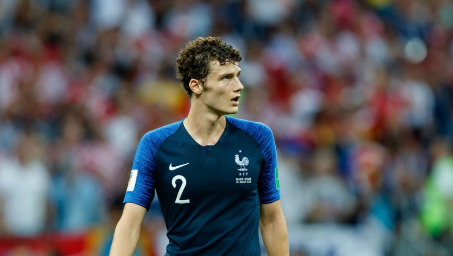 MOSCOW, RUSSIA - JULY 15: Benjamin Pavard of France looks on during the 2018 FIFA World Cup Russia Final between France and Croatia at Luzhniki Stadium on July 15, 2018 in Moscow, Russia. (Photo by TF-Images/Getty Images)