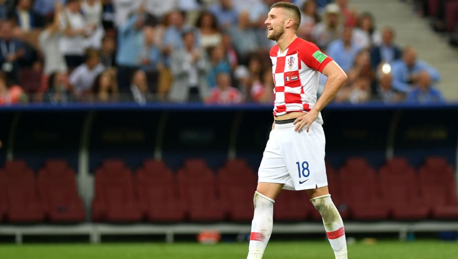 MOSCOW, RUSSIA - JULY 15:  Ante Rebic of Croatia reacts during the 2018 FIFA World Cup Final between France and Croatia at Luzhniki Stadium on July 15, 2018 in Moscow, Russia.  (Photo by Dan Mullan/Getty Images)