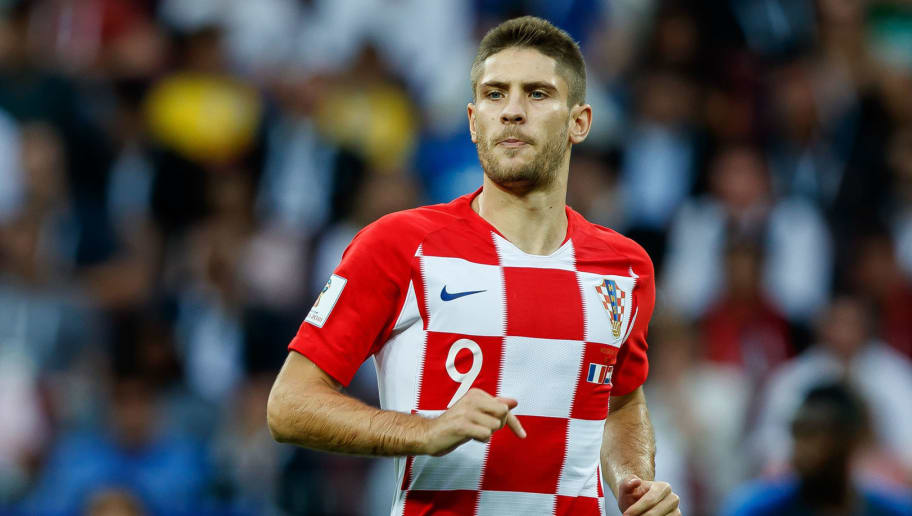 MOSCOW, RUSSIA - JULY 15: Andrej Kramaric of Croatia looks on during the 2018 FIFA World Cup Russia Final between France and Croatia at Luzhniki Stadium on July 15, 2018 in Moscow, Russia. (Photo by TF-Images/Getty Images)