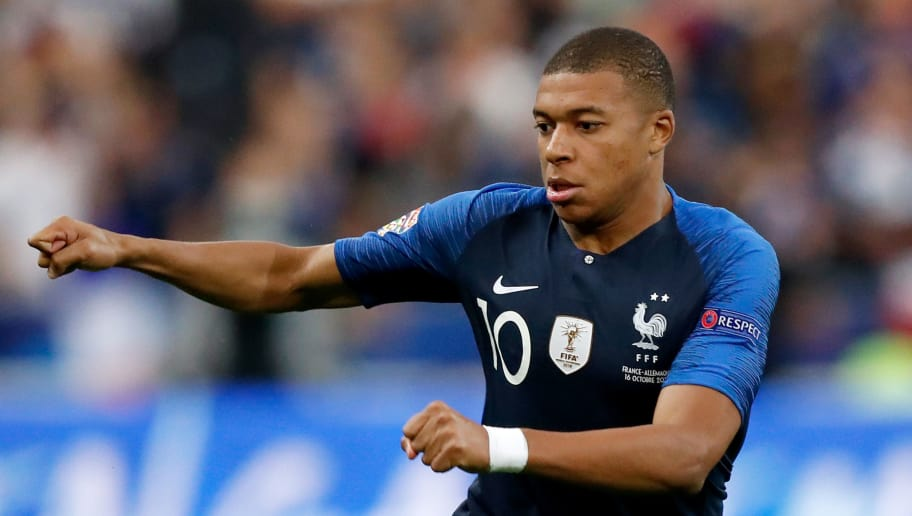 PARIS, FRANCE - OCTOBER 16: Kylian Mbappe of France  during the  UEFA Nations league match between France  v Germany  at the Stade de France on October 16, 2018 in Paris France (Photo by Jeroen Meuwsen/Soccrates/Getty Images)
