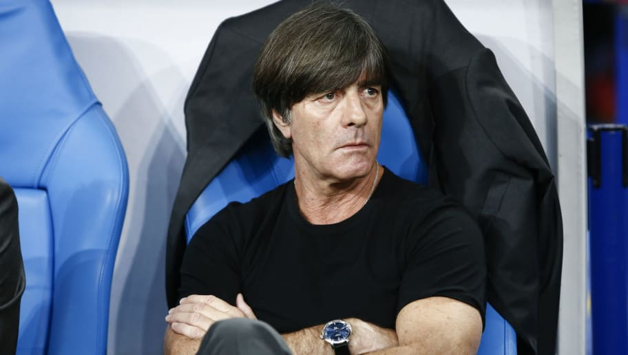 PARIS, FRANCE - OCTOBER 16: Joachim Low Head Coach of Germany looks on before the UEFA Nations League A group one match between France and Germany at Stade de France on October 16, 2018 in Paris, France. (Photo by Catherine Steenkeste/Getty Images)