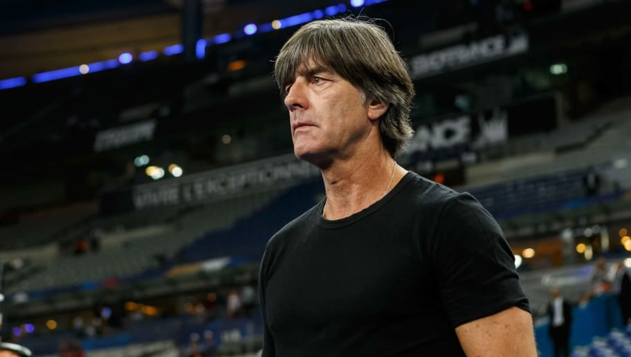 PARIS, FRANCE - OCTOBER 16: Head coach Joachim Loew of Germany looks on prior the UEFA Nations League A group one match between France and Germany at Stade de France on October 16, 2018 in Paris, France. (Photo by TF-Images/Getty Images)