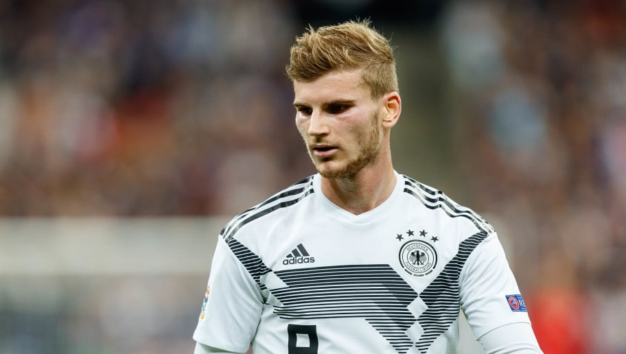PARIS, FRANCE - OCTOBER 16: Timo Werner of Germany looks on during the UEFA Nations League A group one match between France and Germany at Stade de France on October 16, 2018 in Paris, France. (Photo by TF-Images/Getty Images)