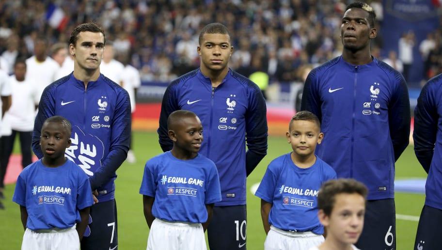Antoine Griezmann,Kylian Mbappe,Paul Pogba