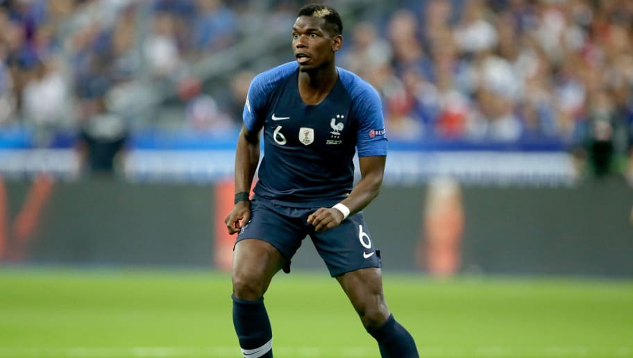 PARIS, FRANCE - SEPTEMBER 9: Paul Pogba of France  during the  UEFA Nations league match between France  v Holland  at the Stade de France on September 9, 2018 in Paris France (Photo by Eric Verhoeven/Soccrates/Getty Images)