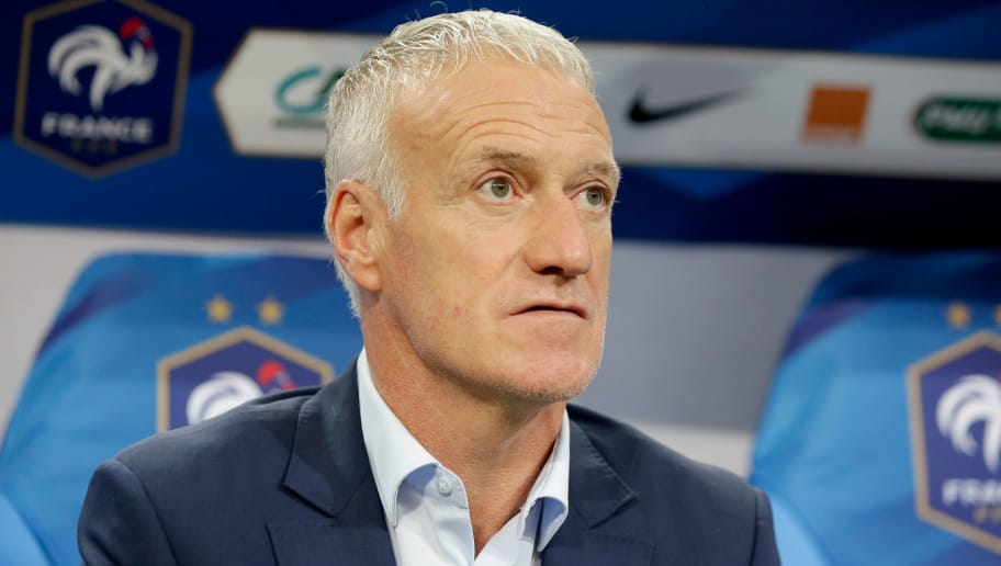 PARIS, FRANCE - SEPTEMBER 9: coach Didier Deschamps of France during the  UEFA Nations league match between France  v Holland  at the Stade de France on September 9, 2018 in Paris France (Photo by Laurens Lindhout/Soccrates/Getty Images)