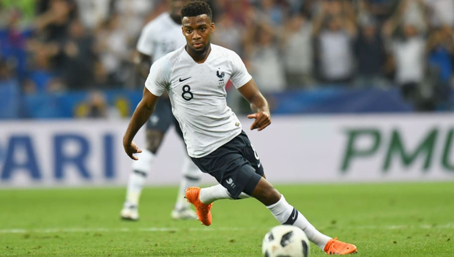 NICE, FRANCE - JUNE 01:  Thomas Lemar of France  in action during the International Friendly match between France and Italy at Allianz Riviera Stadium on June 1, 2018 in Nice, France.  (Photo by Alessandro Sabattini/Getty Images)