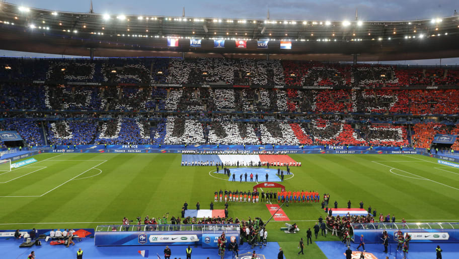 PARIS, FRANCE - AUGUST 31:  General view before the FIFA 2018 World Cup Qualifier between France and Netherlands at Stade de France on August 31, 2017 in Paris.  (Photo by Xavier Laine/Getty Images)