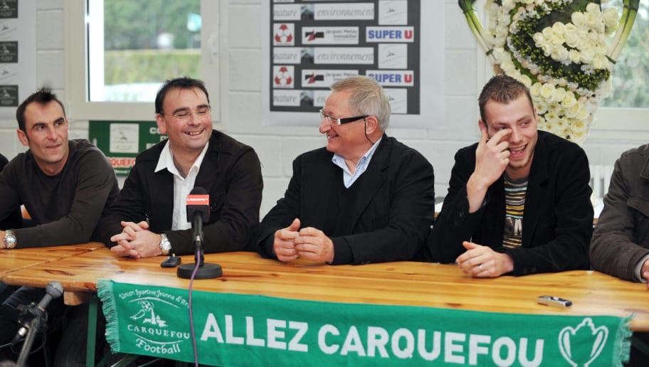 French Carquefou football team (LtoR) ca