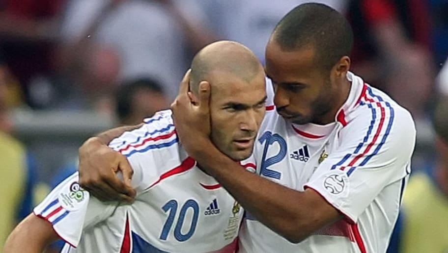 French midfielder Zinedine Zidane is con