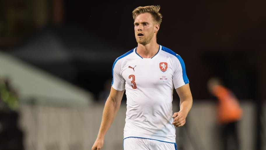 Tomas Kalas of Czech Republicduring the friendly match between Belgium and Czech Republic on June 05, 2017 at the Koning Boudewijn stadium in Brussels, Belgium.(Photo by VI Images via Getty Images)