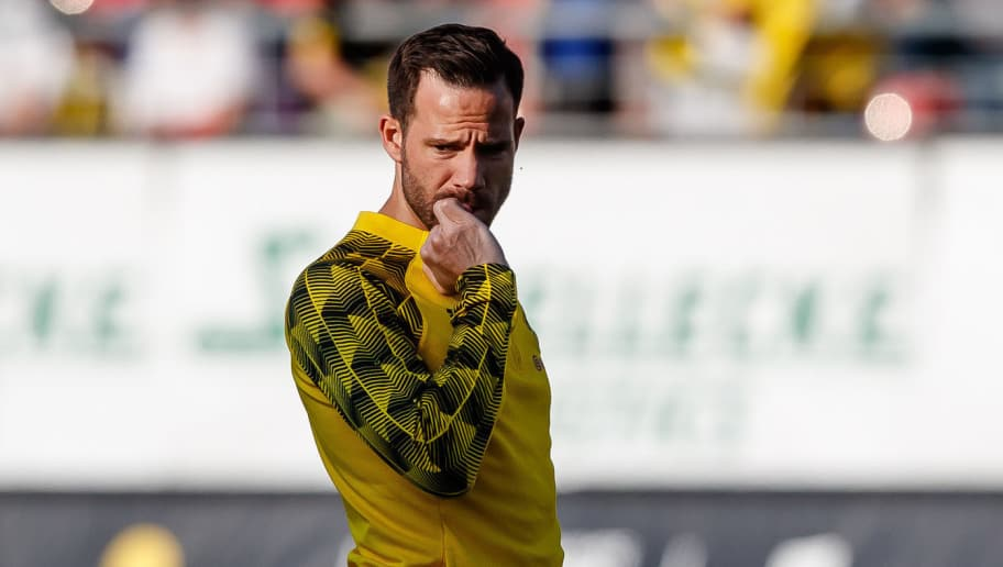 ZWICKAU, GERMANY - MAY 14: Gonzalo Castro of Dortmund looks on during the Friendly Match match between FSV Zwickau and Borussia Dortmund at Stadion Zwickau on May 14, 2018 in Zwickau, Germany. (Photo by TF-Images/Getty Images)
