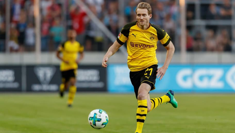 ZWICKAU, GERMANY - MAY 14: Andre Schuerrle of Dortmund controls the ball during the Friendly Match match between FSV Zwickau and Borussia Dortmund at Stadion Zwickau on May 14, 2018 in Zwickau, Germany. (Photo by TF-Images/Getty Images)