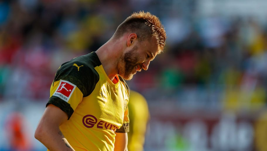 ZWICKAU, GERMANY - MAY 14: Andrey Yarmolenko of Dortmund looks on during the Friendly Match match between FSV Zwickau and Borussia Dortmund at Stadion Zwickau on May 14, 2018 in Zwickau, Germany. (Photo by TF-Images/Getty Images)