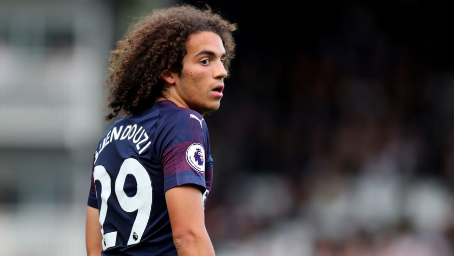 LONDON, ENGLAND - OCTOBER 07: Matteo Guendouzi of Arsenal during the Premier League match between Fulham FC and Arsenal FC at Craven Cottage on October 7, 2018 in London, United Kingdom. (Photo by Catherine Ivill/Getty Images)