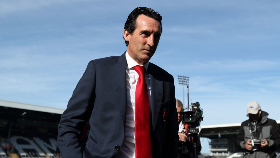 LONDON, ENGLAND - OCTOBER 07: Arsenal manager \ Head coach Unai Emery during the Premier League match between Fulham FC and Arsenal FC at Craven Cottage on October 7, 2018 in London, United Kingdom. (Photo by James Williamson - AMA/Getty Images)
