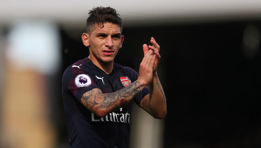 LONDON, ENGLAND - OCTOBER 07: Lucas Torreira of Arsenal during the Premier League match between Fulham FC and Arsenal FC at Craven Cottage on October 7, 2018 in London, United Kingdom. (Photo by Catherine Ivill/Getty Images)