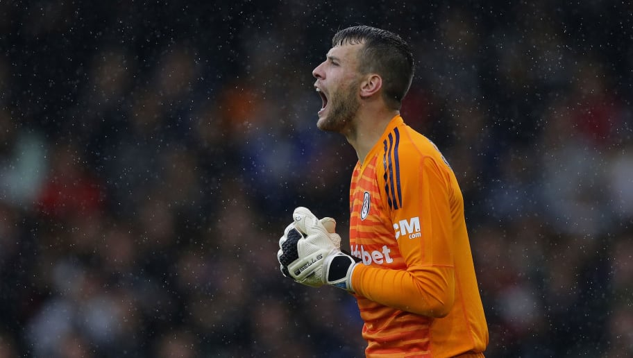 LONDON, ENGLAND - AUGUST 26: Marcus Bettinelli of Fulham during the Premier League match between Fulham FC and Burnley FC at Craven Cottage on August 26, 2018 in London, United Kingdom. (Photo by Henry Browne/Getty Images)