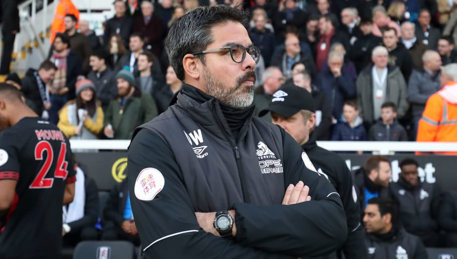 LONDON, ENGLAND - DECEMBER 29: Huddersfield Town manager \ head coach David Wagner during the Premier League match between Fulham FC and Huddersfield Town at Craven Cottage on December 29, 2018 in London, United Kingdom. (Photo by James Williamson - AMA/Getty Images)