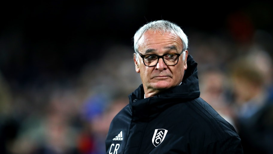 LONDON, ENGLAND - DECEMBER 05:  Claudio Ranieri, Manager of Fulham looks on prior to the Premier League match between Fulham FC and Leicester City at Craven Cottage on December 5, 2018 in London, United Kingdom.  (Photo by Dan Istitene/Getty Images)