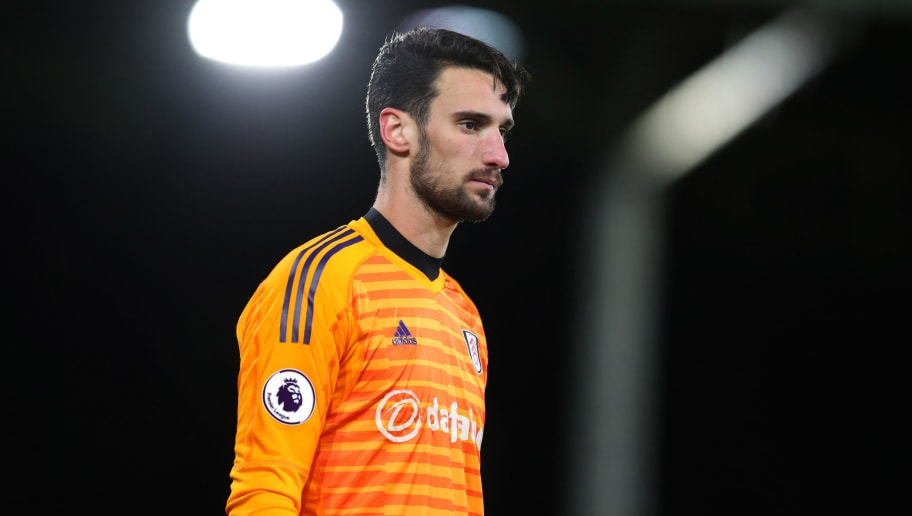 LONDON, ENGLAND - DECEMBER 15: Sergio Rico of Fulham during the Premier League match between Fulham FC and West Ham United at Craven Cottage on December 15, 2018 in London, United Kingdom. (Photo by Catherine Ivill/Getty Images)