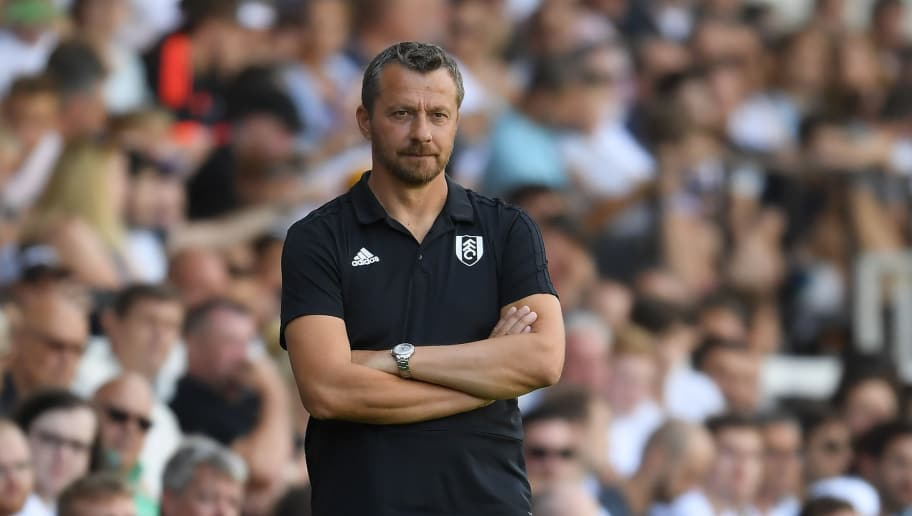 LONDON, ENGLAND - AUGUST 04:  Fulham manager Slavisa Jokanovic looks on during a Pre-Season Friendly between Fulham and Celta Vigo at Craven Cottage on August 4, 2018 in London, England.  (Photo by Mike Hewitt/Getty Images)