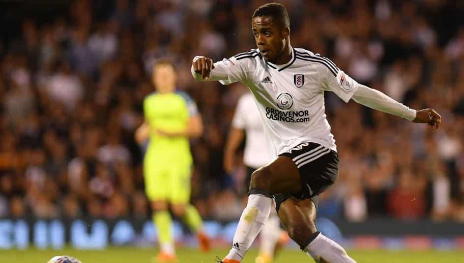 LONDON, ENGLAND - MAY 14:  Ryan Sessegnon of Fulham in action during the Sky Bet Championship Play Off Semi Final:Second Leg match between Fulham and Derby County at Craven Cottage on May 14, 2018 in London, England.  (Photo by Mike Hewitt/Getty Images)