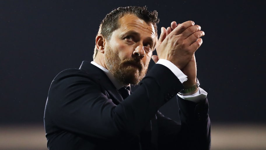 LONDON, ENGLAND - APRIL 27:  Fulham Manager Slavisa Jokanovic celebrates at the end of the Sky Bet Championship match between Fulham and Sunderland at Craven Cottage on April 27, 2018 in London, England.  (Photo by Catherine Ivill/Getty Images)