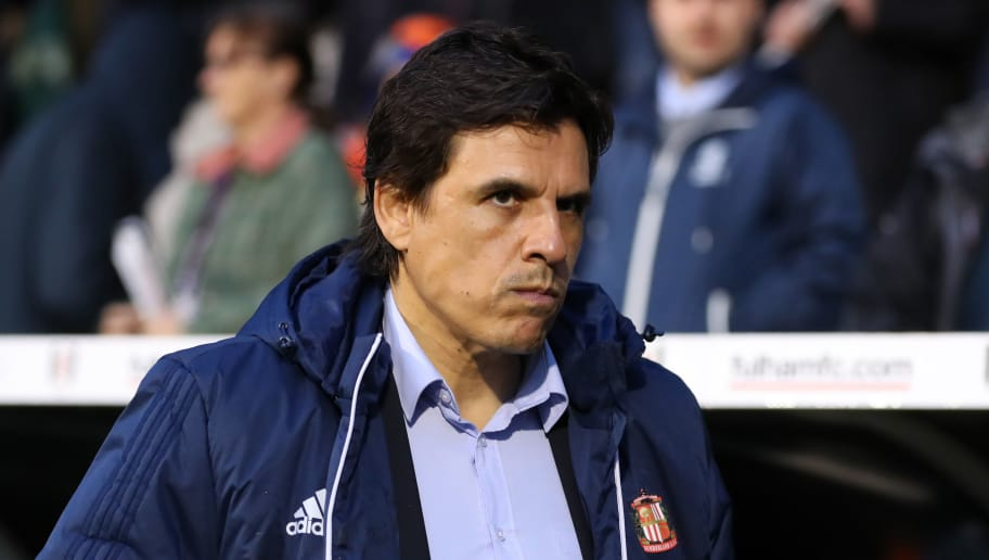 LONDON, ENGLAND - APRIL 27: Chris Coleman manager of Sunderland during the Sky Bet Championship match between Fulham and Sunderland at Craven Cottage on April 27, 2018 in London, England. (Photo by Catherine Ivill/Getty Images)