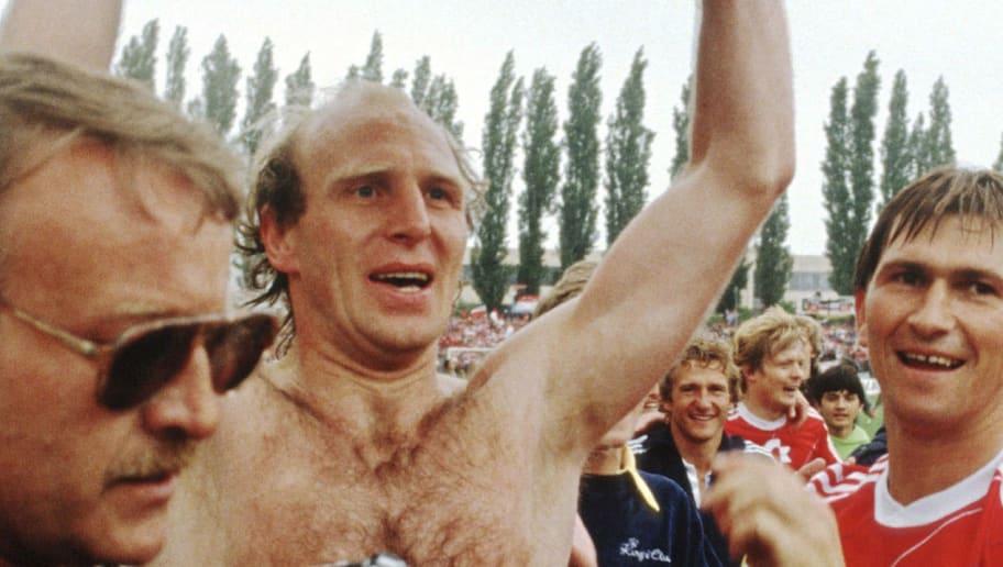 Fussball: 1. Bundesliga 84/85/FC Bayern Muenchen Deutscher Meister 1985
