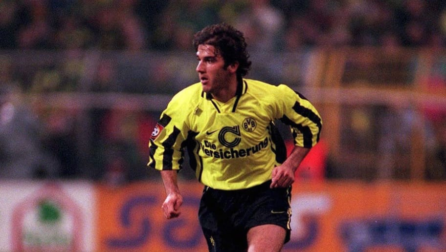 GERMANY - FEBRUARY 14:  FUSSBALL: BORUSSIA DORTMUND 14.02.97, Karl-Heinz RIEDLE  (Photo by Mark Sandten/Bongarts/Getty Images)