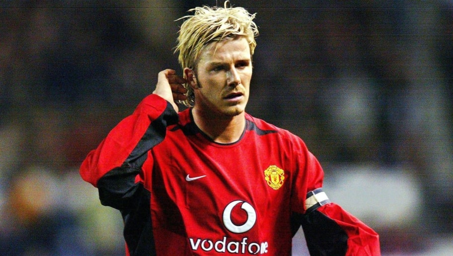 MANCHESTER, UNITED KINGDOM - NOVEMBER 13:  CHAMPIONS LEAGUE 02/03, Manchester; MANCHESTER UNITED - BAYER 04 LEVERKUSEN 2:0; David BECKHAM/MANCHESTER  (Photo by Alexander Hassenstein/Bongarts/Getty Images)