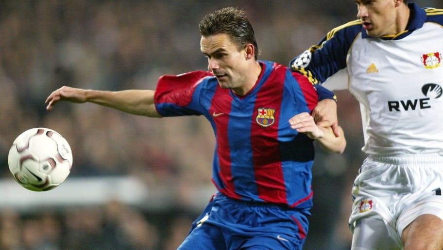 Fussball: CL 02/03, FC Barcelona - Bayer 04 Leverkusen 2:0